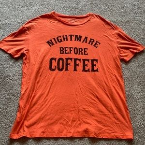 """Nightmare Before Coffee"" Graphic Tee"